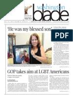 Washingtonblade.com, Volume 43, Issue 29, July 15, 2016
