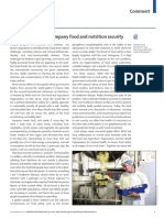 Food safety must accompany food and nutrition security