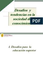 Desafios y Tendencias en La Sociedad Del Conocimiento.2014ppt