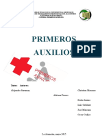 Trabajo II Unidad Primeros Auxilios