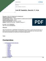 STAPCastellon 1-2016 Delito Estafa Compañía de Seguros