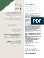 Creative Formal Resume template