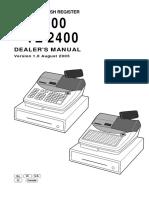 Manual Casio Te 2400