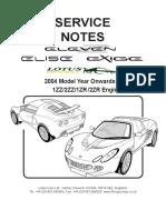 2004-2012 Elise Exige Service Manual