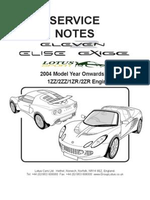 2004-2012 Elise Exige Service Manual | Manual Transmission