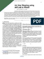 Researchpaper Dynamic Time Warping Using MATLAB PRAAT