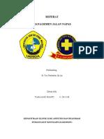 Cover Referat Management Airway