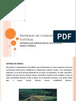 Sistemas de Climatización Natural