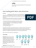 Face Reading Guide. Basics, Tips and Secrets
