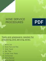 Wine Service Guide