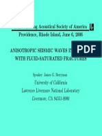 Anisotropic Seismic Waves