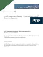 Analisis Produccion Comercializacion Limon