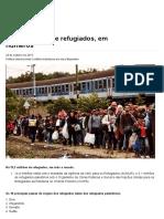 Crise Dos Refugiados Em Números