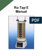 Ro-Tap E Manual 2005