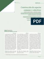 Construcción de espacios comunes y colectivos