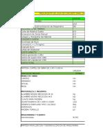 Presupuesto Para Muro de Concreto Simple-minera Pampa Izuña