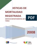MORTALIDAD TARIJA 2008