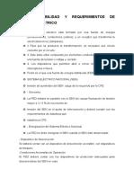 Disponibilidad y Requerimientos Del Sistema Eléctrico