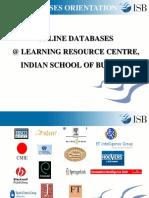 Online Databases Ajay