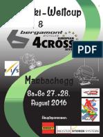 Programmheft European 4Cross Series #6 - Dual Slalom Marbachegg 2016