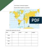 Guia de Ejercicio Tema Coordenadas Geograficas