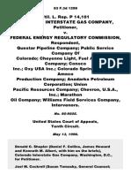 CO Interstate Gas Co v. FERC, 83 F.3d 1298, 10th Cir. (1996)