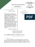 Hammett v. Oklahoma Department, 10th Cir. (1998)