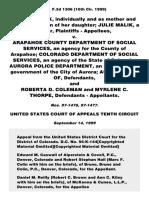 Malik v. Arapahoe County Dept, 191 F.3d 1306, 10th Cir. (1999)