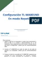 Configuración TL-WA801ND Repetidor PDF