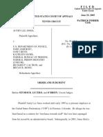 Jones v. US Dept. of Justice, 10th Cir. (2005)