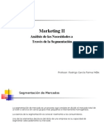Marketing II , Unidad II, Segmentacion