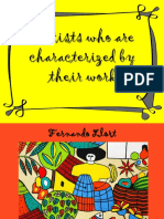 Artists Who Are Characterized by Their Work