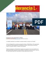 15-06-2016 Intolerancia Diario - Inauguran Nuevo Libramiento a Atlixco