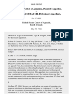 United States v. Timothy Paul Strayer, 846 F.2d 1262, 10th Cir. (1988)