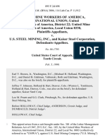 United Mine Workers of America, International Union United Mine Workers of America, District 22 United Mine Workers of America, Local Union 8330 v. U.S. Steel Mining, Inc., and Kaiser Steel Corporation, 895 F.2d 698, 10th Cir. (1990)