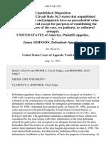 United States v. James Johnson, 940 F.2d 1539, 10th Cir. (1991)