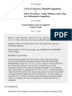 United States v. Vance Murphy, D/B/A the Store Linda Wallace, D/B/A the Store, 977 F.2d 503, 10th Cir. (1992)