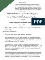 United States v. Steven William Vanlue, 982 F.2d 530, 10th Cir. (1992)