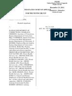 Smith v. Kansas Dept. Of Corrections, 10th Cir. (2011)