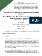 Carol Johnson, Lillian Rangel, Judith Steinbach v. Karen Beye, Acting Director, Colorado State Department of Social Services, in Her Official Capacity, 17 F.3d 1437, 10th Cir. (1994)