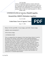 United States v. Kenneth Ray Green, 25 F.3d 1058, 10th Cir. (1994)