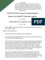 United States v. Myjuan Tarico Brown, 45 F.3d 440, 10th Cir. (1994)