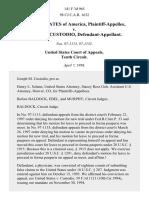 United States v. Joseph M. Custodio, 141 F.3d 965, 10th Cir. (1998)