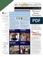 Historic Philadelphia Gazette - July 2016
