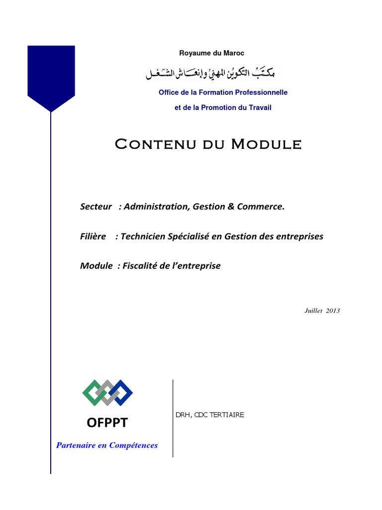 module fiscalité ofppt