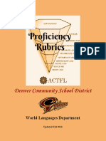 Denver Community School District World Language Proficiency Rubrics