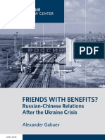 Friends With Benefits? Russian-Chinese Relations After the Ukraine Crisis