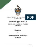MastersinDevelopmentStatisticsBooklet2014-2015