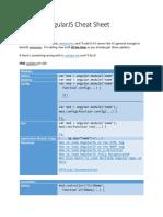 Ultimate AngularJS Cheat Sheet