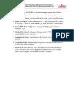 Agenda de Trabajo de La FVEU Del Estado Anzoátegui